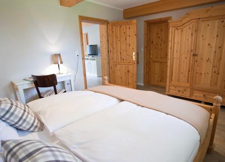 Schlafzimmer des Zimmer 10 (Suite)