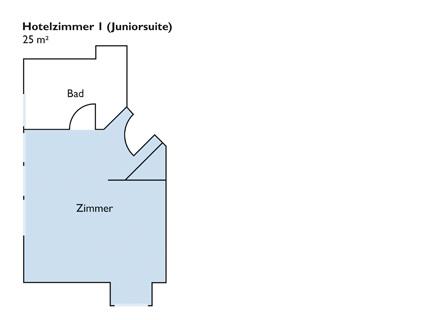 Lageplan von Zimmer 1