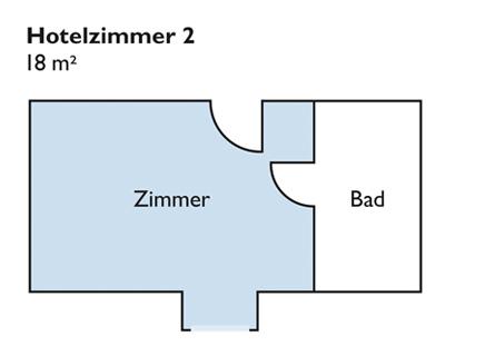 Plan von Zimmer 2