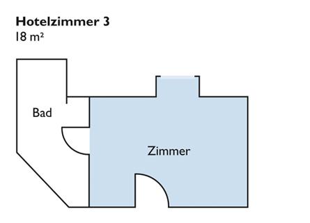 Plan von Zimmer 3