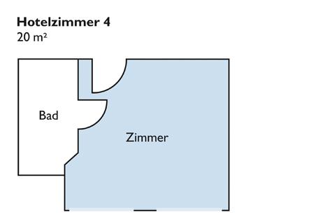 Plan von Zimmer 4