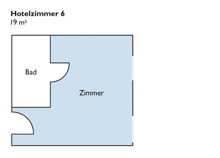 Plan von Zimmer 6