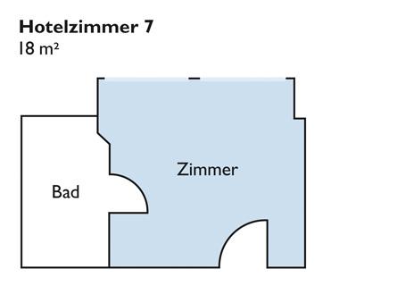 Plan von Zimmer 7