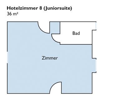 Plan von Zimmer 8